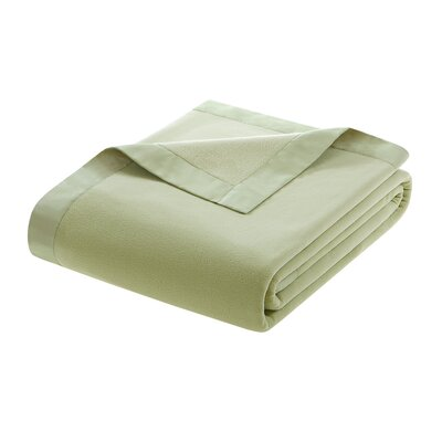 Oceanview Micro Fleece Throw Blanket Size: King, Color: Sage