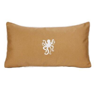 Dalton Octopus Outdoor Lumbar Pillow Color: Wet Sand