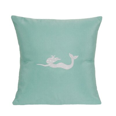 St. Marks Indoor/Outdoor Sunbrella Throw Pillow Size: 14 H x 14 W, Color: Glacier Blue