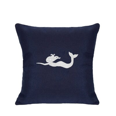 St. Marks Outdoor Throw Pillow Size: 18 H x 18 W, Color: Navy