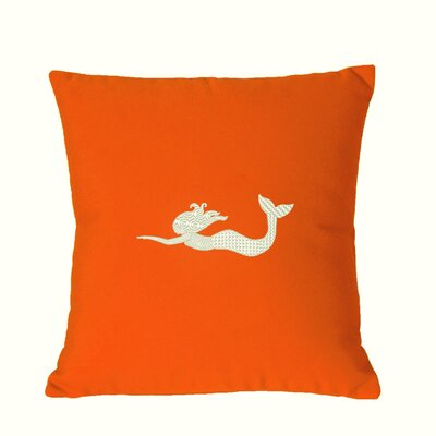 St. Marks Outdoor Throw Pillow Size: 14 H x 14 W, Color: Melon