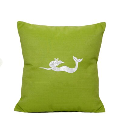 St. Marks Outdoor Throw Pillow Size: 14 H x 14 W, Color: Parrot Green