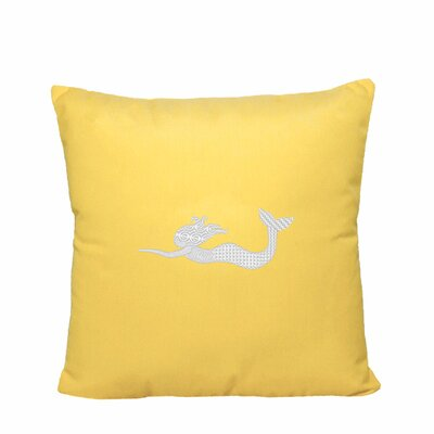 St. Marks Outdoor Throw Pillow Size: 14 H x 14 W, Color: Yellow