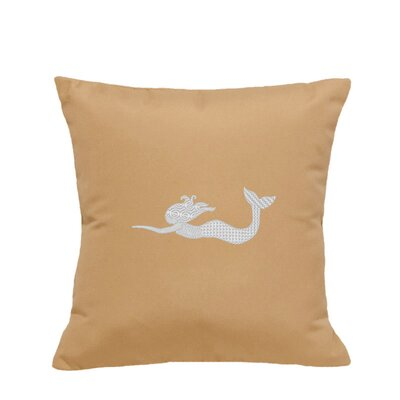 St. Marks Outdoor Throw Pillow Size: 18 H x 18 W, Color: Wet Sand