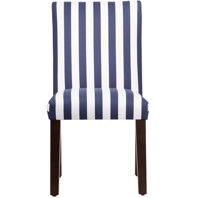 Woodland Parsons Chair Upholstery: Blue & White