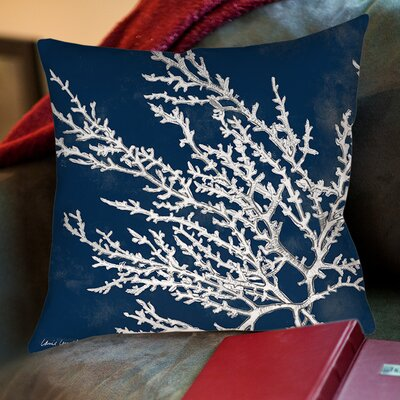 Beaconsdale Coastal Coral Printed Throw Pillow Size: 18 H x 18 W x 5 D