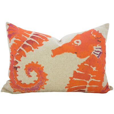 Heatherfield Linen Lumbar Pillow Color: Orange