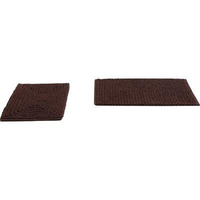 Matlacha Chenille Bath Rug Color: Chocolate