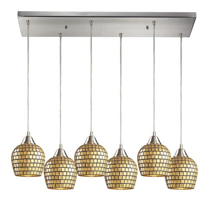 Roehampton 6-Light Kitchen Island Pendant Shade Color: Gold