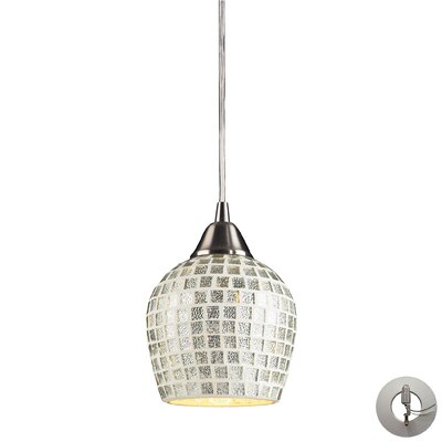 Roehampton 1-Light Mini Pendant Shade Color: Silver