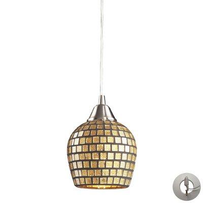 Roehampton 1-Light Mini Pendant Shade Color: Gold