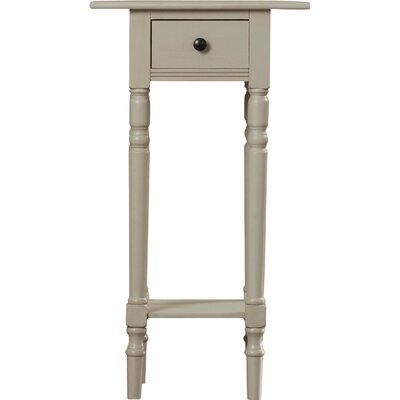 Amityville End Table With Storage Color: Vintage Grey