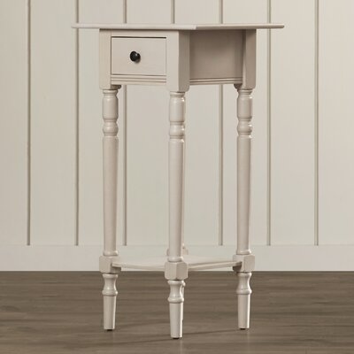 Amityville 1 Drawer End Table Color: Vintage Grey