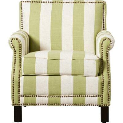Randall Armchair Upholstery: Green/White