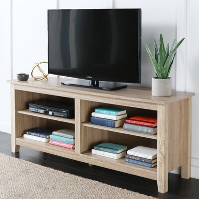 Sunbury 58 TV Stand with Optional Fireplace Color: Weathered Natural, Fireplace Included: No