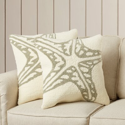 Garibaldi Pillow in Baby Blue Color: White / Tropical L. Grey