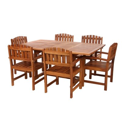 Humphrey Extension 5 Piece Wood Dining Set