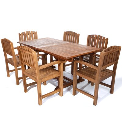 Humphrey 7 Piece Wood Dining Set