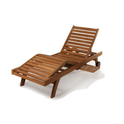 Humphrey Traditional Wood Chaise Lounge