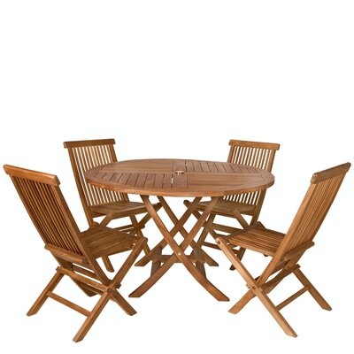 Humphrey 5 Piece Dining Set Table Shape: Round