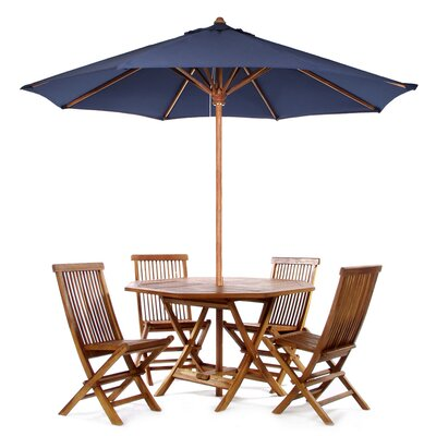 Humphrey 6 Piece Dining Set Color: Blue