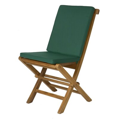 Humphrey Outdoor Side Chair Cushion Fabric: Green