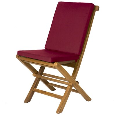 Humphrey Outdoor Side Chair Cushion Fabric: Maroon