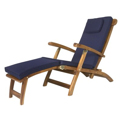 Pleasanton Outdoor Steamer Cushion Color: Blue