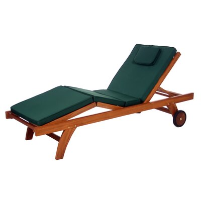 Humphrey Outdoor Lounger Cushion Color: Green