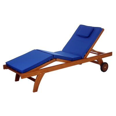Humphrey Outdoor Lounger Cushion Color: Blue