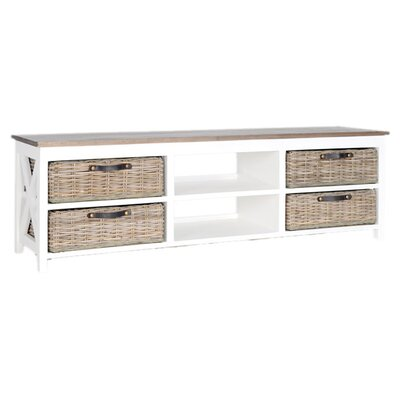 Cleveland TV Stand Finish: White
