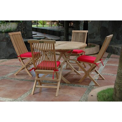 Farnam 5 Piece Round Wood Dining Set