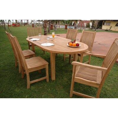 Farnam 7 Piece Teak Wood Dining Set