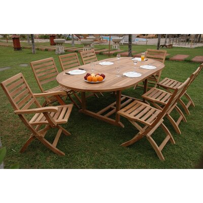 Farnam 9 Piece Oval Dining Set