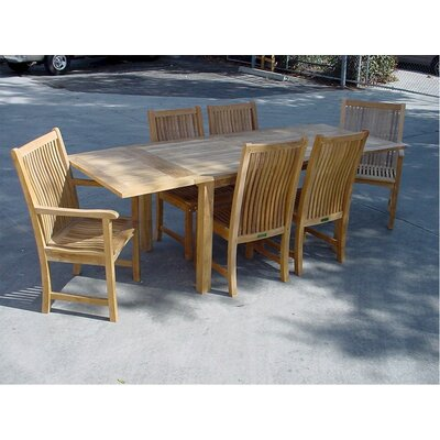 Farnam 7 Piece Rectangular Extendable Dining Set