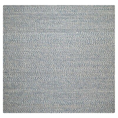 Abrielle Natural Fiber Hand-Woven Blue/Ivory Indoor Area Rug Rug Size: Square 6