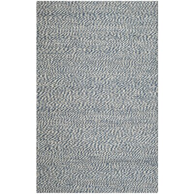 Abrielle Natural Fiber Hand-Woven Blue/Ivory Indoor Area Rug Rug Size: Rectangle 26 x 4