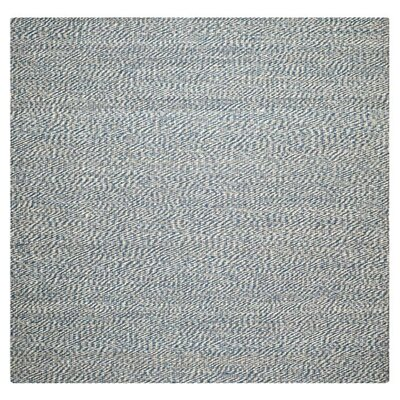 Abrielle Natural Fiber Blue/Ivory Indoor Area Rug Rug Size: Square 6