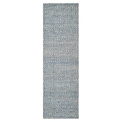 Norwalk Natural Fiber Blue/Ivory Indoor Area Rug Rug Size: Runner 26 x 6