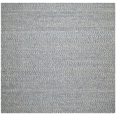 Abrielle Natural Fiber Blue/Ivory Indoor Area Rug Rug Size: Square 8