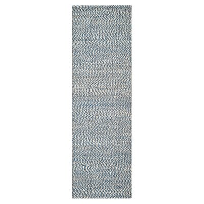 Abrielle Natural Fiber Blue/Ivory Indoor Area Rug Rug Size: Runner 2 x 10