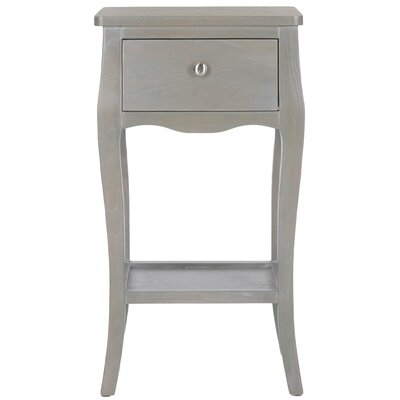 Waterfoot End Table Color: French Grey