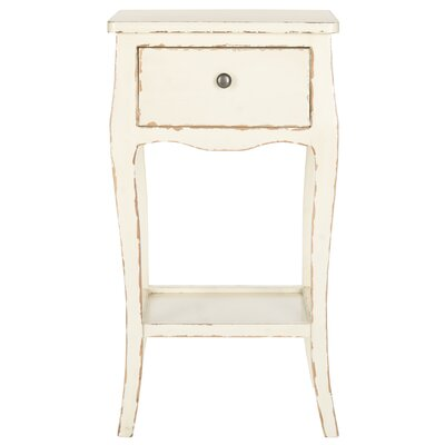 Waterfoot End Table Color: Vintage Cream