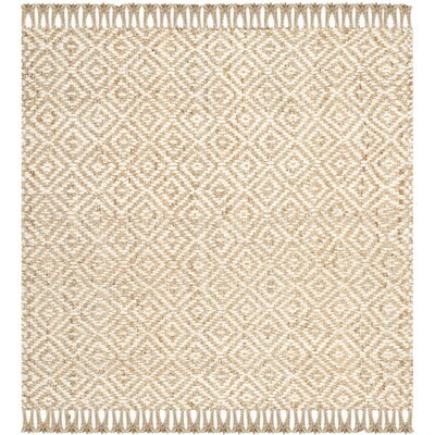 Kingston Handmade Natural / Ivory Natural Fiber Area Rug Rug Size: Square 8