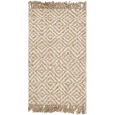 Monagra Handmade Natural/Ivory Natural Fiber Area Rug Rug Size: 4 x 6