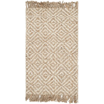 Monagra Handmade Natural/Ivory Natural Fiber Area Rug Rug Size: 5 x 8