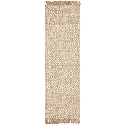 Monagra Handmade Natural/Ivory Natural Fiber Area Rug Rug Size: Rectangle 5 x 8