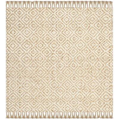 Monagra Handmade Natural/Ivory Natural Fiber Area Rug Rug Size: Square 6