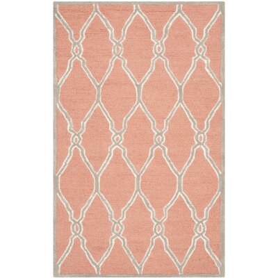 Hagley Hand-Woven Orange Area Rug Rug Size: 3 x 5