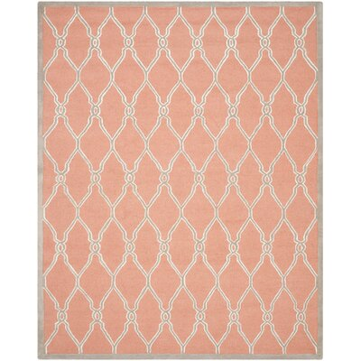 Hagley Hand-Woven Orange Area Rug Rug Size: 8 x 10